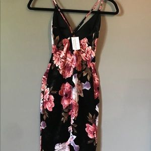 Floral, velvet textured dress from Windsor